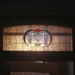 vitráž dveře - Spolkový dům, Krnov