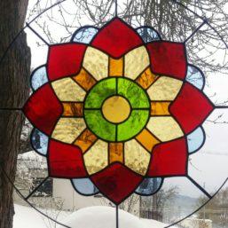 vitráž mandala