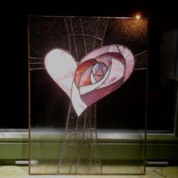 růžové srdce - energetický obraz