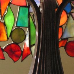 vitrážová lampa detail