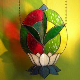 vitráž lotosový květ