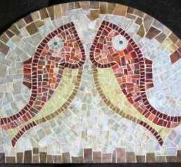 mozaikovy obraz ryby