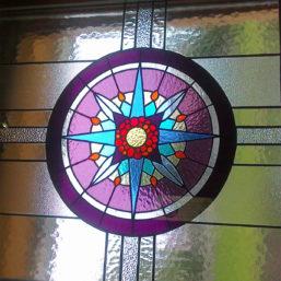detail vitráže kaple Sv. Ducha - Lesní Albrechtice