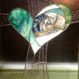 zelené srdce - energetický obraz