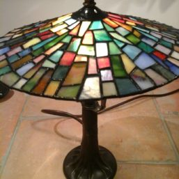 vitrážová lampa malá