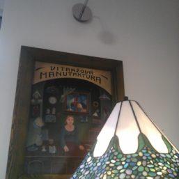 vitrážová lampa