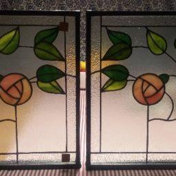 vitráž do vstupních dveří, vloženo do izolačního trojskla
