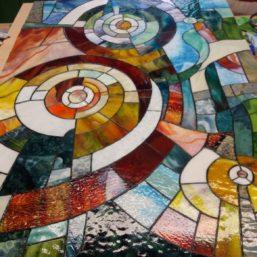 vitrážový obraz